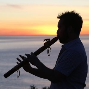 Alain playing the Flute